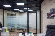 офисные перегородки в черном цвете